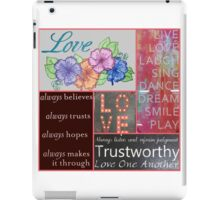 Love is Eternal and Unconditional iPad Case/Skin