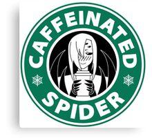 """Rachnera """"Caffeinated Spider"""" Logo Canvas Print"""