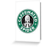 "Rachnera ""Caffeinated Spider"" Logo Greeting Card"
