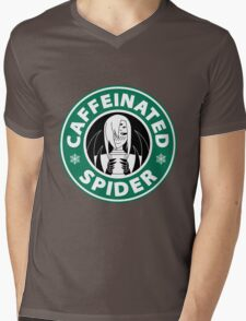 "Rachnera ""Caffeinated Spider"" Logo Mens V-Neck T-Shirt"