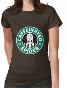 "Rachnera ""Caffeinated Spider"" Logo Womens Fitted T-Shirt"