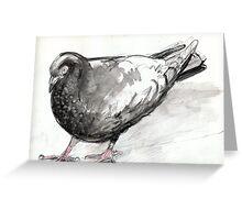 Pigeon at Flinders Street Greeting Card
