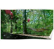 Hammock in the Woods Poster