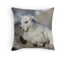Mt Goat Kid 2 Throw Pillow