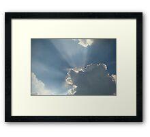 Rays of Light ~ Framed Print