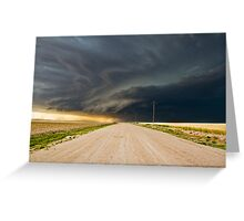 Dark roads ahead - Sharon Springs, Kansas Greeting Card