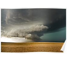 Rotating Supercell in the Palmer Divide, Colorado Poster