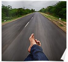 Relaxing in the back of an Autorickshaw, Kutch, Gujarat Poster