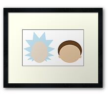 Rick and Morty- Simple Design! Framed Print
