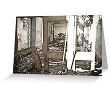 In Through the Burnt Out Door Greeting Card
