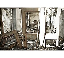 In Through the Burnt Out Door Photographic Print