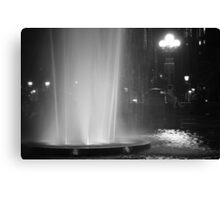Summer Night In Washington Square Park Canvas Print