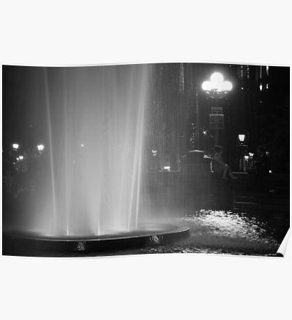 Summer Night In Washington Square Park Poster