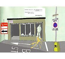 Toilet Stop Photographic Print