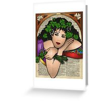 Gypsy Girl on Dictionary Page Greeting Card