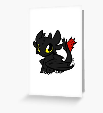 Toothless Dragon Greeting Card