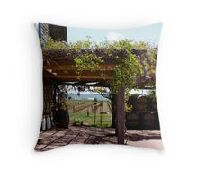 Vineyard in the summer Throw Pillow