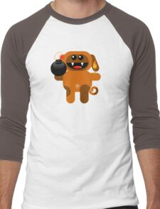 DOG 4 (Cute pet has a bomb and its alight!) Men's Baseball ¾ T-Shirt