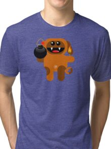 DOG 4 (Cute pet has a bomb and its alight!) Tri-blend T-Shirt