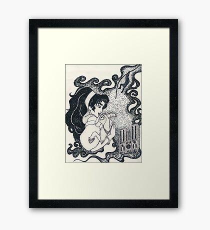 Iconic E Framed Print