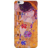 The Kiss - Gustav Klimt - Blue Highlights iPhone Case/Skin