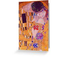 The Kiss - Gustav Klimt - Blue Highlights Greeting Card
