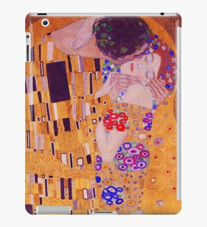 The Kiss - Gustav Klimt - Blue Highlights iPad Case/Skin