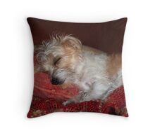 Little one, you've had a busy day. Throw Pillow
