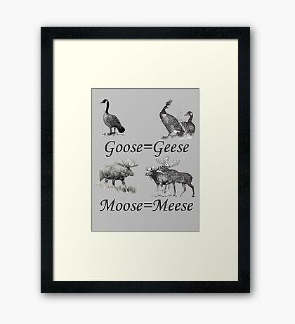 Moose Meese Framed Print