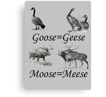 Moose Meese Canvas Print