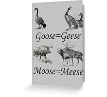Moose Meese Greeting Card