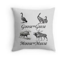 Moose Meese Throw Pillow