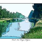Canal Near Bruges, Belgium by prbimages
