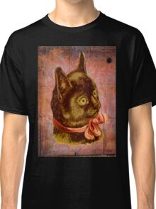 Victorian Vintage Coral Bow Brown Cat Classic T-Shirt