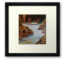 Waterfall crossing Framed Print