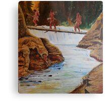 Waterfall crossing Metal Print