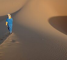 Blue man walking by DriftWords