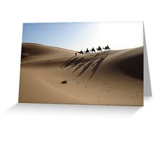 Camels on the Dunes Greeting Card