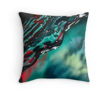 Green stream Throw Pillow