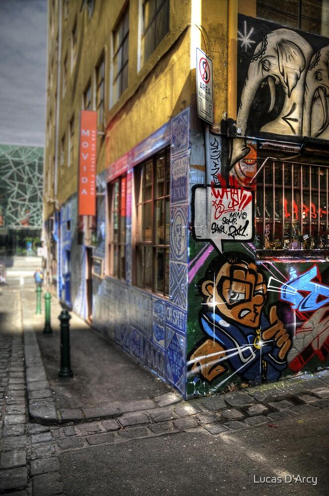 Laneway graffiti by Lucas D'Arcy