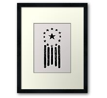Old World American Flag [BLACK] Framed Print