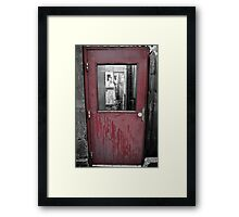 The door to the town Framed Print