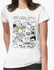 Meme compilation Womens Fitted T-Shirt