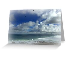 Ravens over the sea Greeting Card