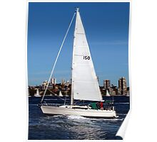 Sailing on Sydney Harbour Poster