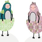 Teacup Birds by EmmaIllustrator