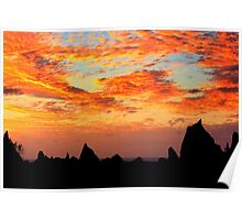 Pinnacle sunset Poster