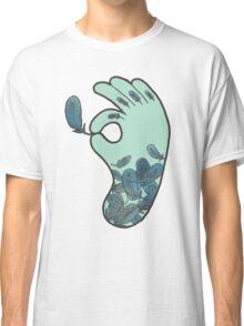 Blue Feather Tattoo Classic T-Shirt