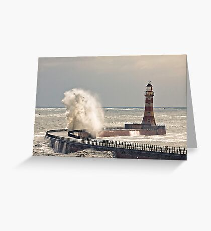 Roker Sea Power Greeting Card