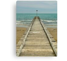 floating dock Canvas Print